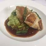 Roast Chicken Breast, with Yorkshire asparagus and cracked wheat risotto