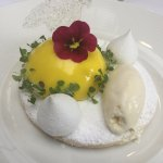 Lemon Cheesecake, with shortbread biscuit and lemon ice cream