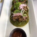 Duck carnitas appetizer