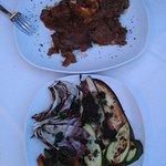 Cena. Ossobuco con verduras
