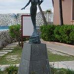 Mermaid Statue, minature of one in the ocean