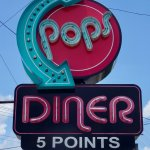 Pops Diner at 5 Points (where Main Street and Church Street merge)
