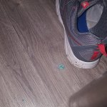 DIRTY FLOORS! FOUND A PIECE OF CEREAL ON THE FLOOR AND HAIRBALL IN BATHROOM