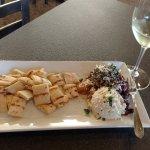 Love the Mediterranean Spread appetizer on hot pita bread