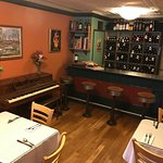 piano bar and private dining area