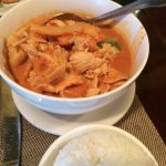 Red Curry and Rice at Siam House