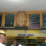 Menu Boards in the Donut Mill.