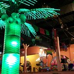the lighted Coconut tree in the main dining room