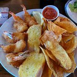 Shrimp and chips.