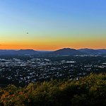 Sunset view ofer Roanoke from Star overlook