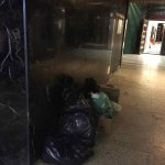 More entrance way with garbage