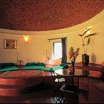 Domed living room of 2 bedroomed Cottage C