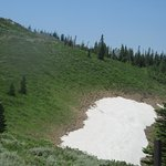Snow July 2, Guardsman Pass Scenic Backway, Park City, Utah