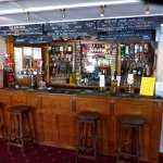 The well stocked bar, with 3 real local brewed real ales on handpump
