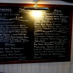 The daily Specials Blackboard, plenty of meals to choose from