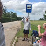 Bus stops put of palace