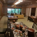 Traditional Japanese breakfast in the dinning room