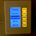 Lighting control panel from the bathroom