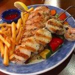 Wood Grilled Scallops, Shrimp
