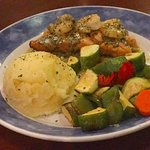 Lemon Basil Salmon and Shrimps