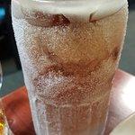 Beer served in frozen mug