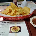 Free chips and mild and hot salsa to start. Very good