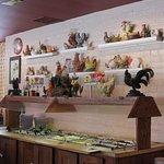 Salad bar and decor