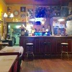 Small bar in rear of restaurant