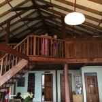 Inside the main lodge- the kids approved of the upstairs bedroom!