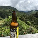 A view from the lodge balcony, and some of the local microbrew readily available at the hotel!