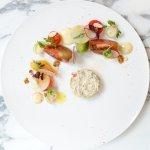 Crabe Royal au yuzu et tomates fraiches