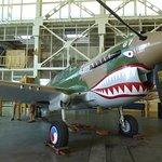 Plane in adjoining hangar