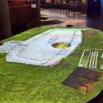 Digital touch table display of longhouse
