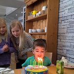 Little Edward Shaw and his cousins from America celebrate his 3rd birthday at Naturally Hawkshea