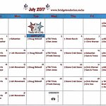 JULY 2017 ENTERTAINMENT CALENDAR!