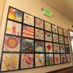 Wall of customer art