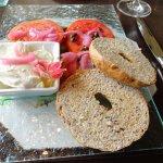 Smoked Trout w/ Bagel dish