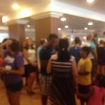 The line for beverages