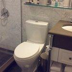 The small bathroom