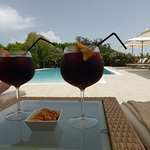 Afternoon Sangria by the pool