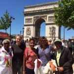 Our Black Paris Tour Group, enjoyed the day together with our guide Miguel, (not pictured)
