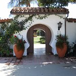 The famous keyhole entrance to Casa Romantica.