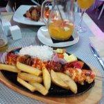 nice food on offer at cabanas