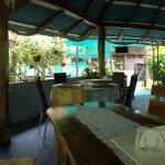 Panoramic of inside restaurant