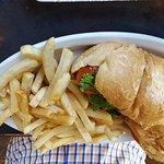 Shrimp poboy soul cornbread