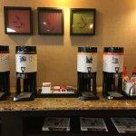 Coffee/tea selection
