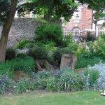 Roman graves in the garden