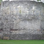 City walls Roman at the bottom, 16th and 19th century additions