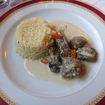 main: veal stew in cream sauce
