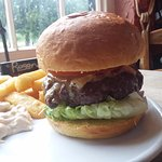 Another shot of the Charlcroft Farm Hampshire steak burger, the best burger i've ever had :)